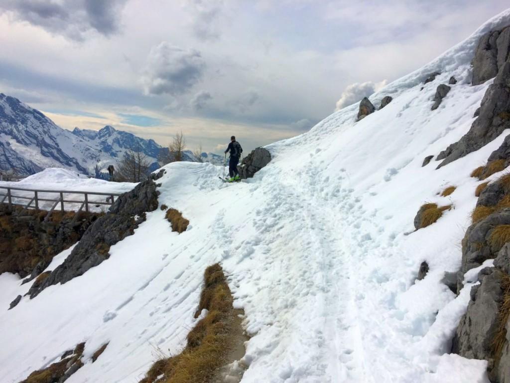 Michi auf den letzten Metern vor dem Gipfel