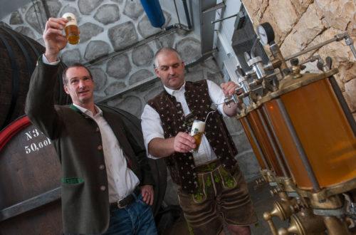 Bierprobe in der Privatbrauerei Wieninger