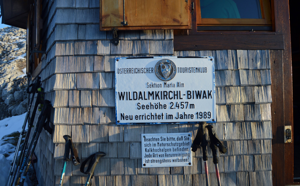 Biwakschachtel am Wildalmkirchl, 2.457 m