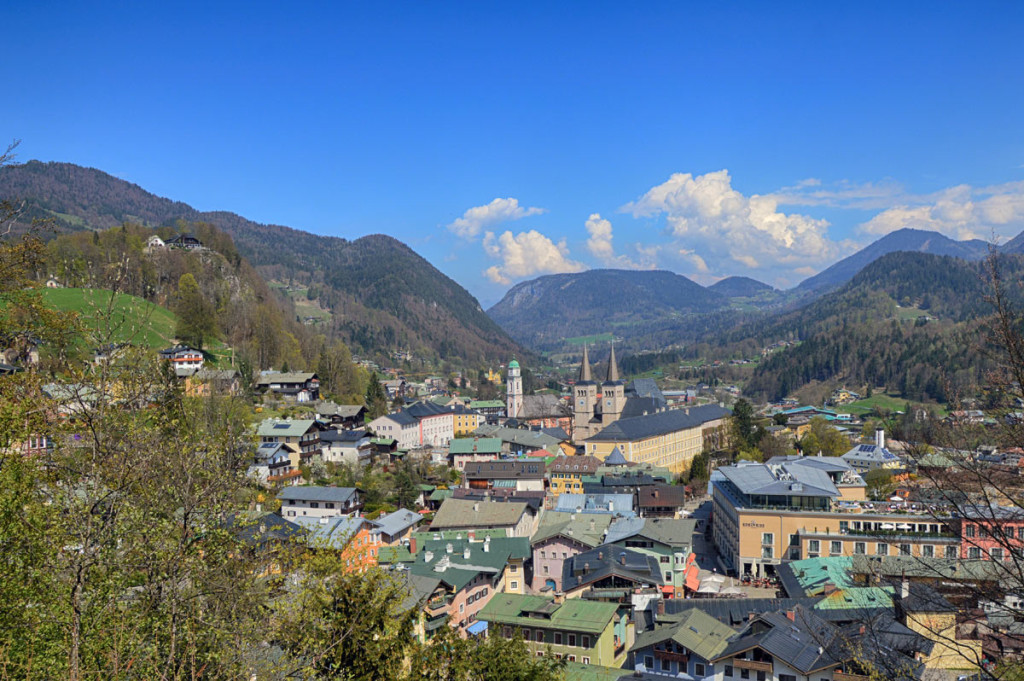 Blick vom Kalvarienberg über Berchtesgaden