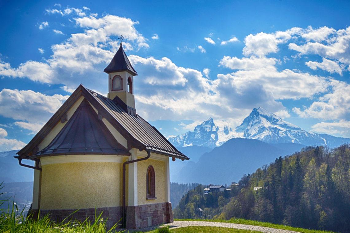 Die Kirchleitenkapelle am Ponnzenzenbichl Berchtesgaden