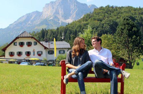 Sepp Wurm mit Patricia Aulitzky am Ettenberg