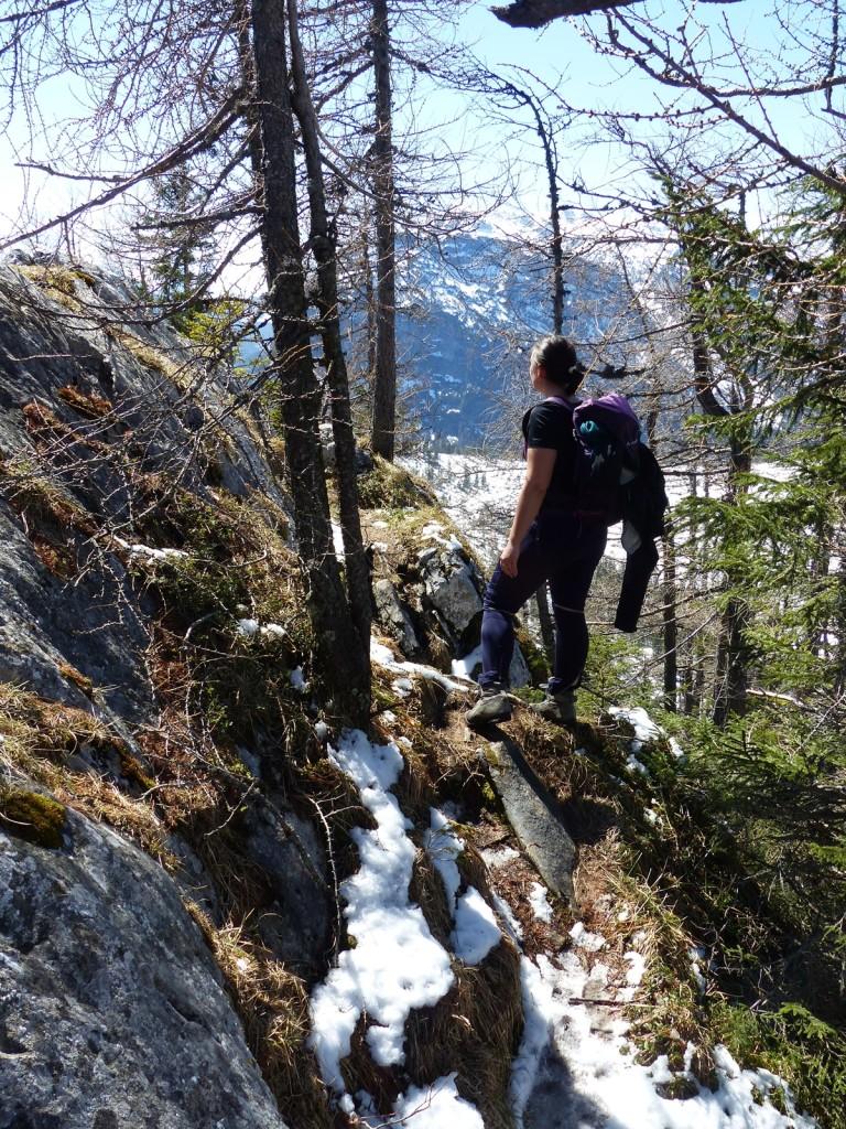 Meine Freundin beim Abstieg © Ann-Kathrin Helbig