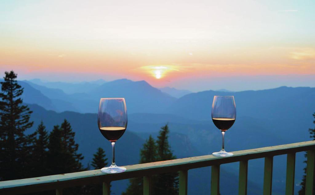 Den Abend genießen: Sonnenuntergang auf dem Predigtstuhl