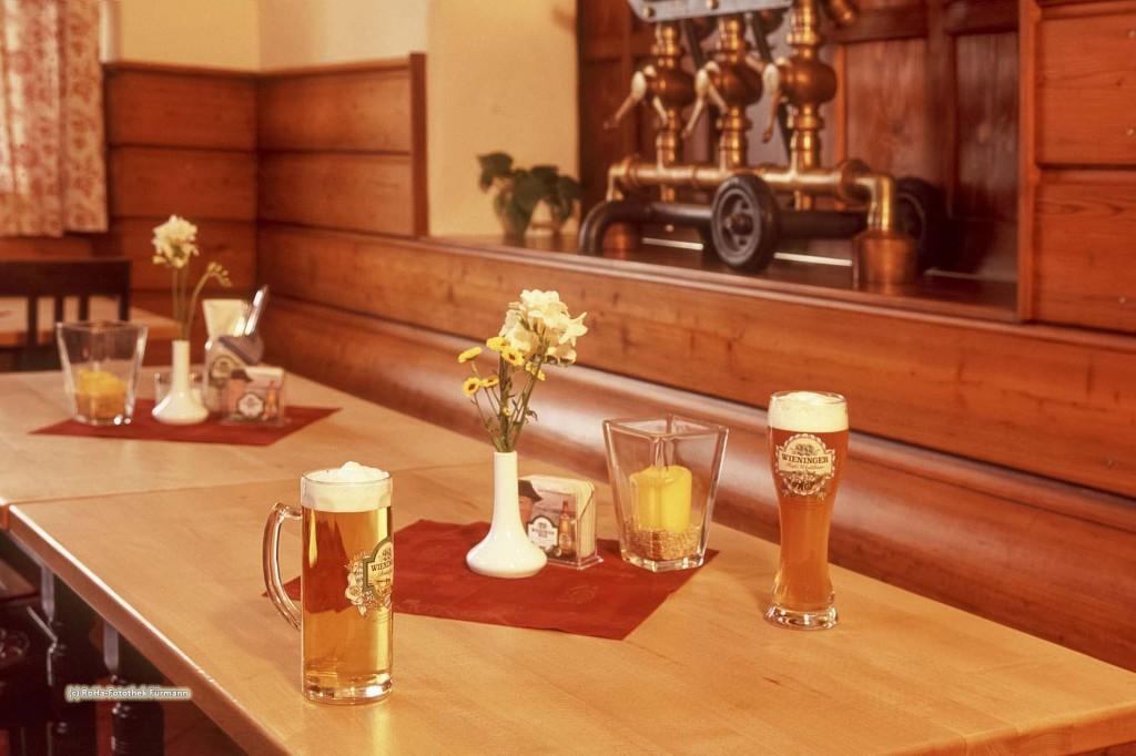 typisch bayerische Gaststübe, Bayern, Deutschland