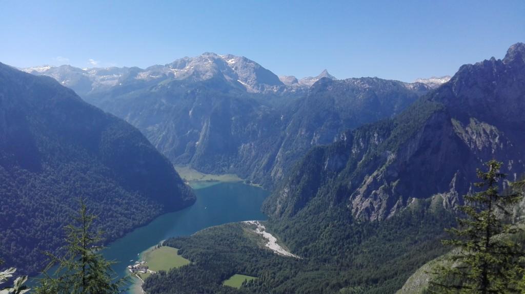 Blick von der Archenkanzel über den Königssee bis ins Steinerne Meer