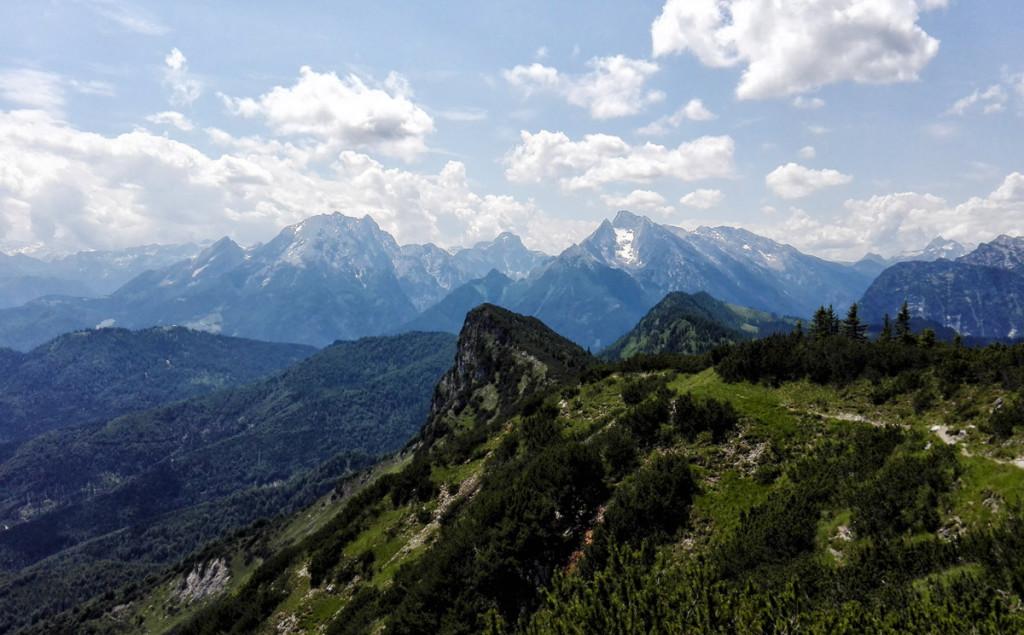 Ausblick vom Karkopf zum Watzmann