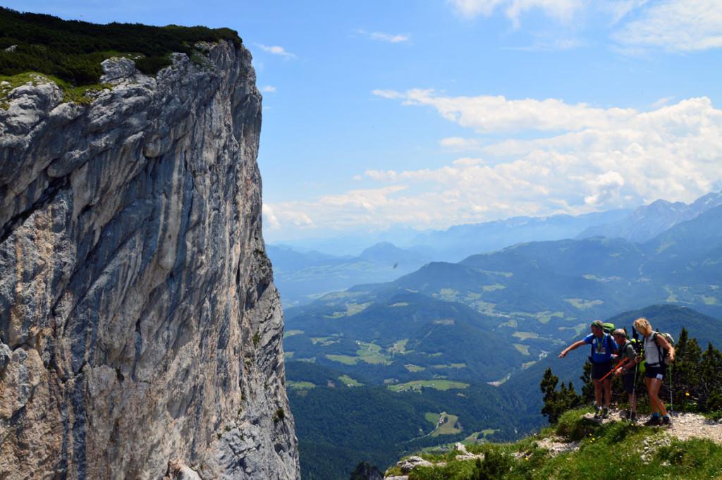 Blick zum Mittagsloch im Untersberg