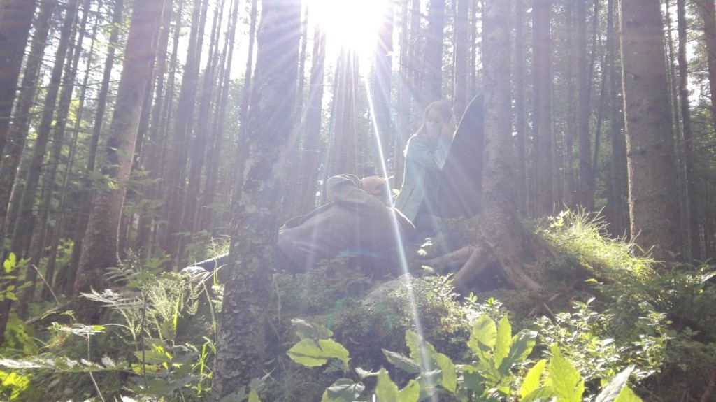 Filmaufnahme im Zauberwald