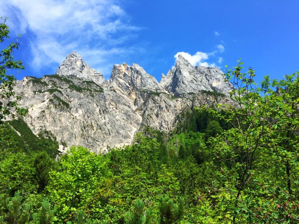 Blick auf die Ramsauer Dolomiten