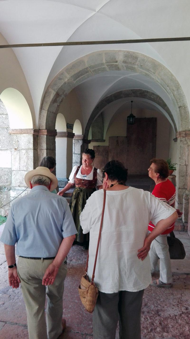 Im Kreuzgang des Königlichen Schloss Berchtesgaden
