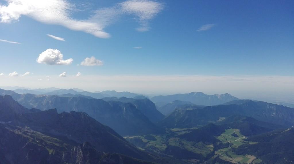 Die Chiemgauer Alpen - Bergkette reiht sich an Bergkette