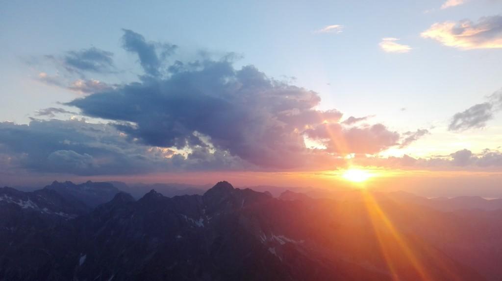Sonnenuntergang Watzmann 5