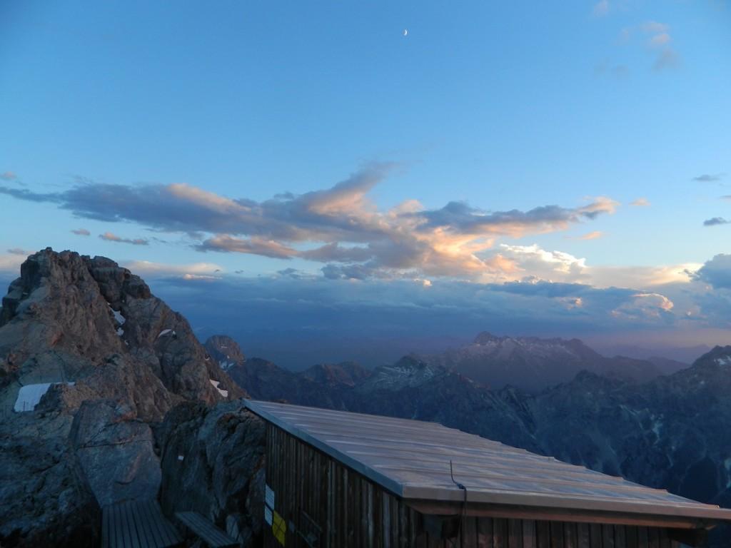 Sonnenuntergang Watzmann Unterstandshütte