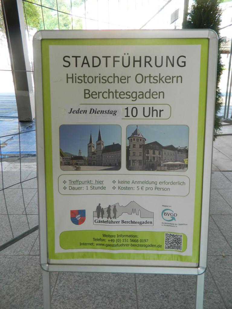 Stadtführung durch Berchtesgaden, Info am Treffpunkt Kurhaus