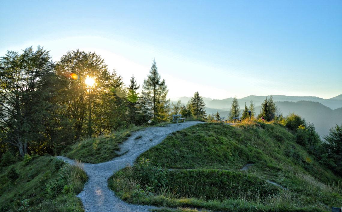 ANkiunft auf dem Gipfelplateau des Grünstein