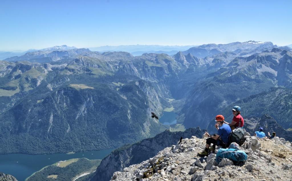 Ausblick von der Südspitze auf Königssee und Obersee