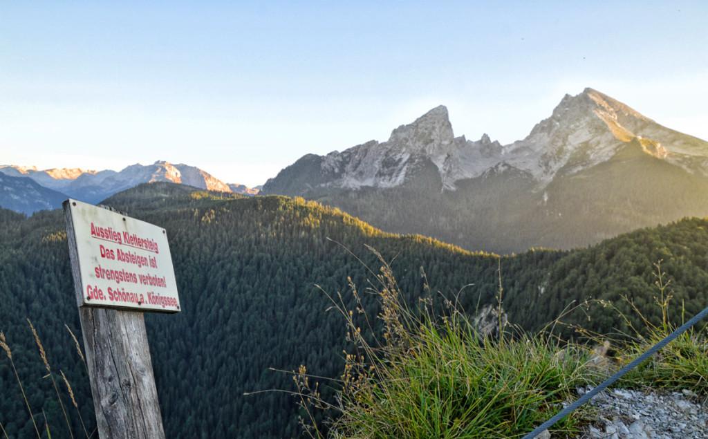 Der Ausstieg des Grünstein Klettersteigs