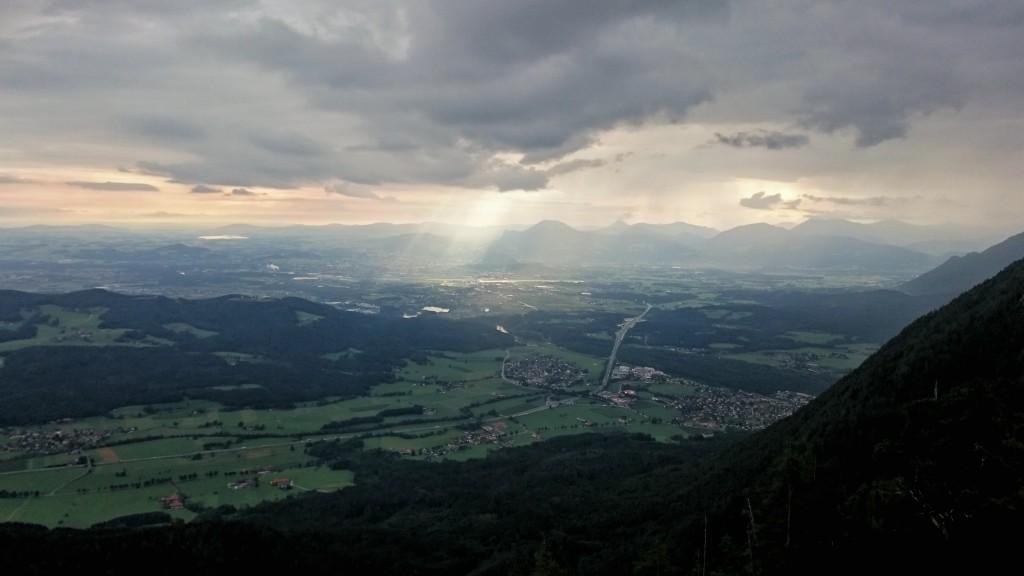 Auch das Tal bleibt vom Nieselregen nicht verschont. ©KH