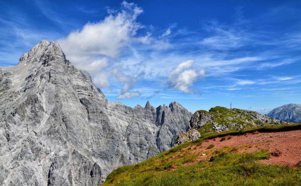 Die Hirschwiese vor der Watzmann Südspitze