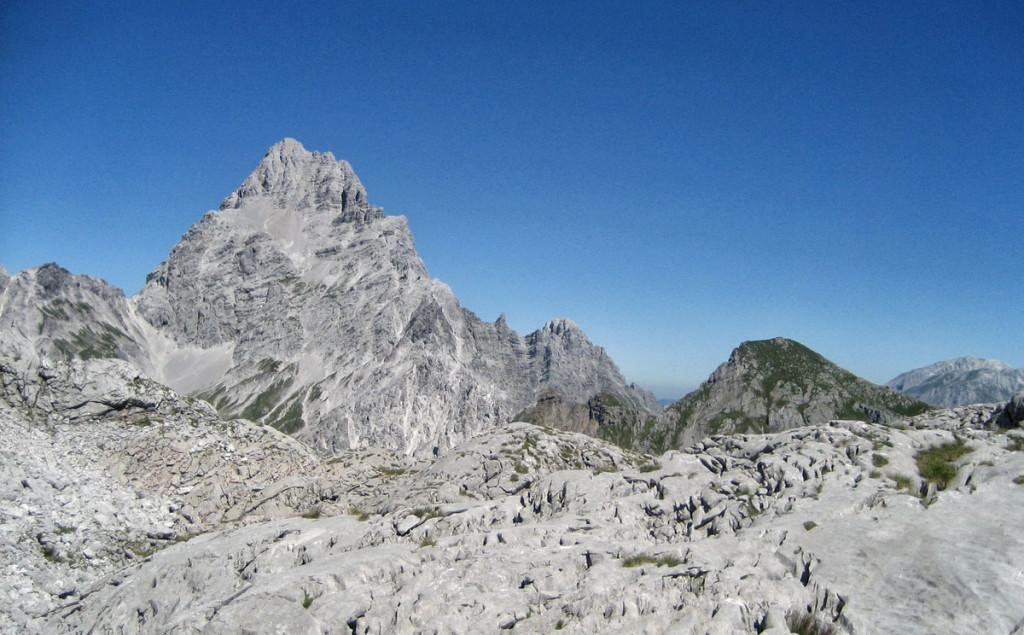 Blick vom Steinernen Meer zum Watzmann