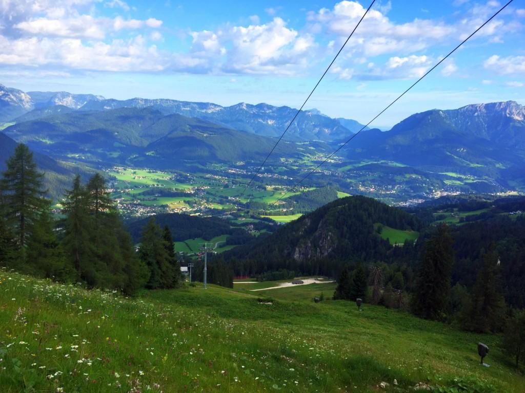 Blick zurück aufs Tal von der Krautkaserbahn