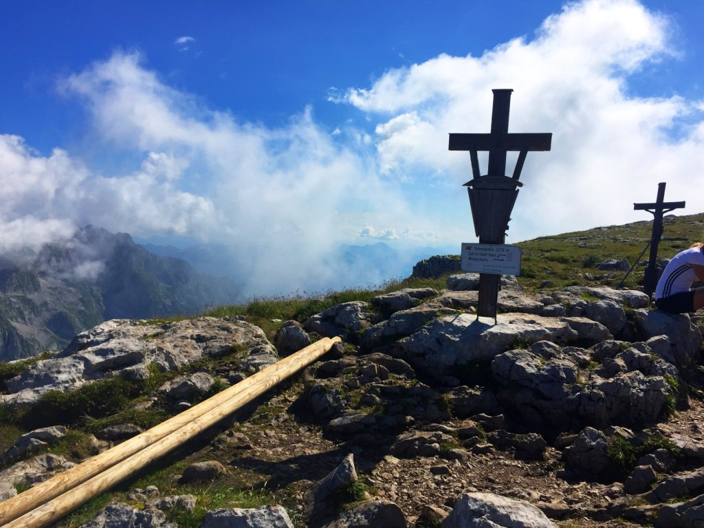 Das Gipfelkreuz am Schneibstein