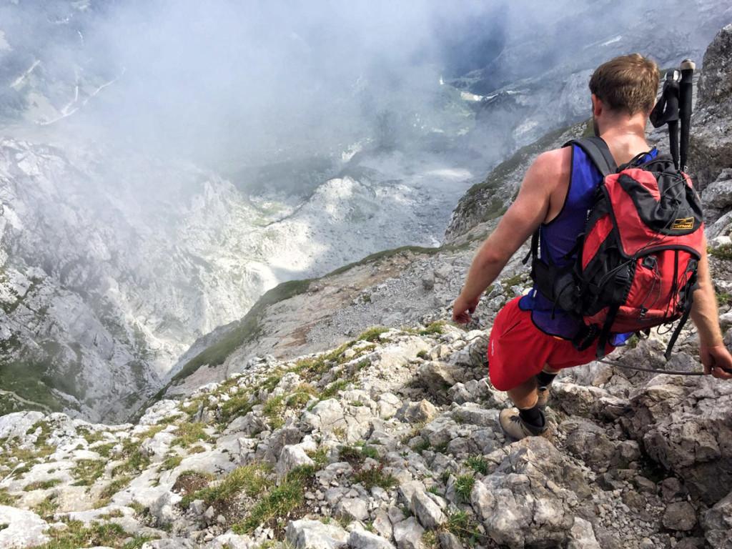 Schustersteig-Abstieg