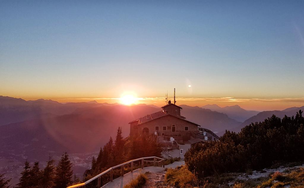 Sonnenuntergang am Kehlsteinhaus