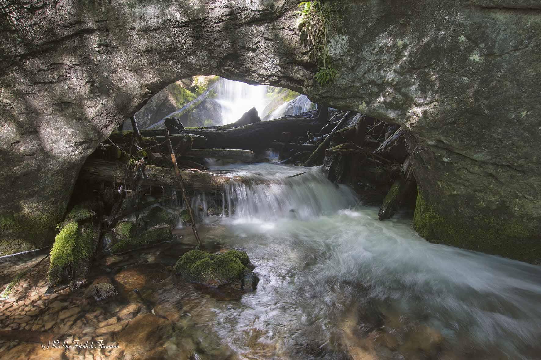 Der Schrainbachfall Am Königssee