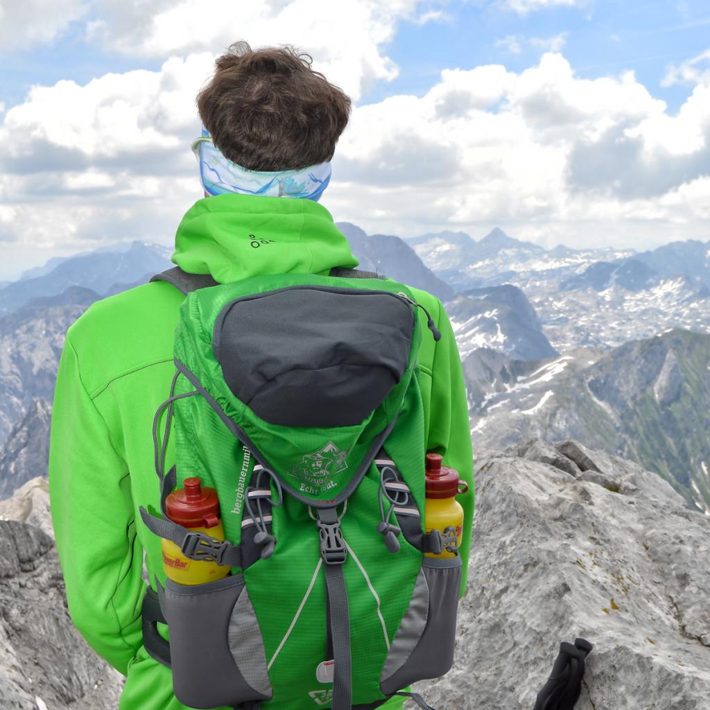 Truer Begeliter auf dem Kammerlinghorn: Der Bergbauernmilch Rucksack
