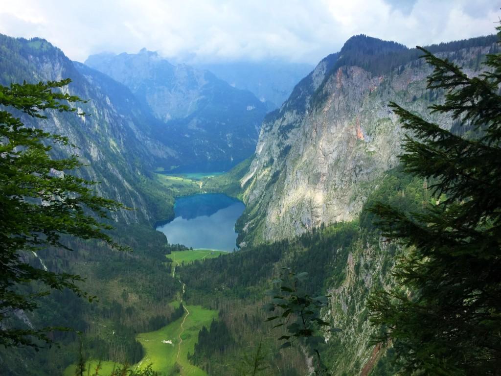 Blick von der Röth auf Obersee und Königssee