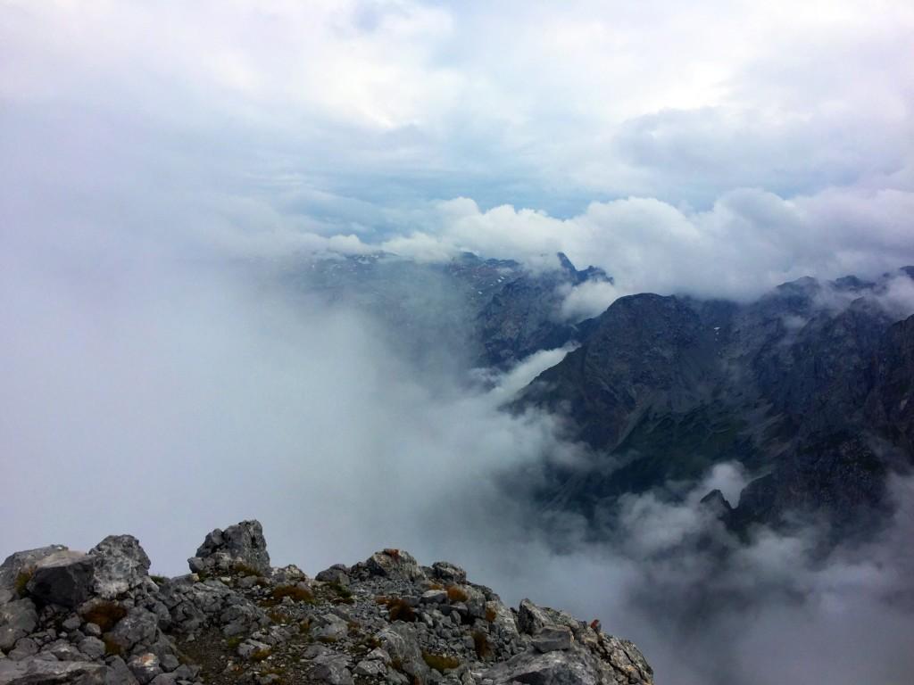 Blick in die Wolken Richtung Österreich