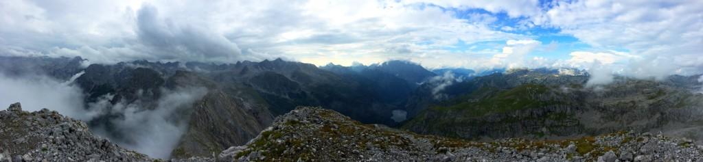 Gipfelpanorama vom Teufelshorn