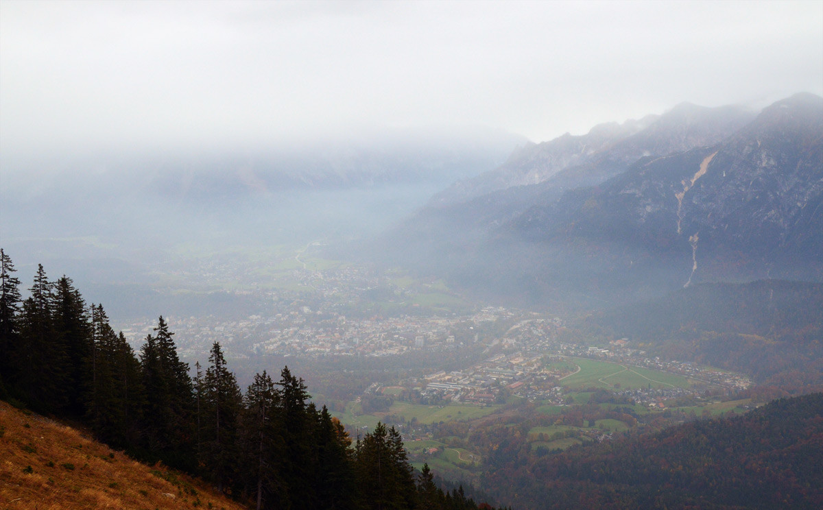 Blick zur Alpenstadt Bad Reichenhall