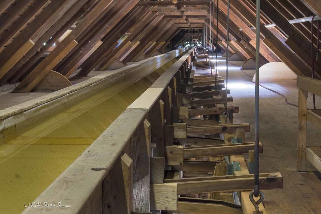 Das Gradierwerk im königlichen Kurgarten von Bad Reichenhall - Berchtesgadener Land