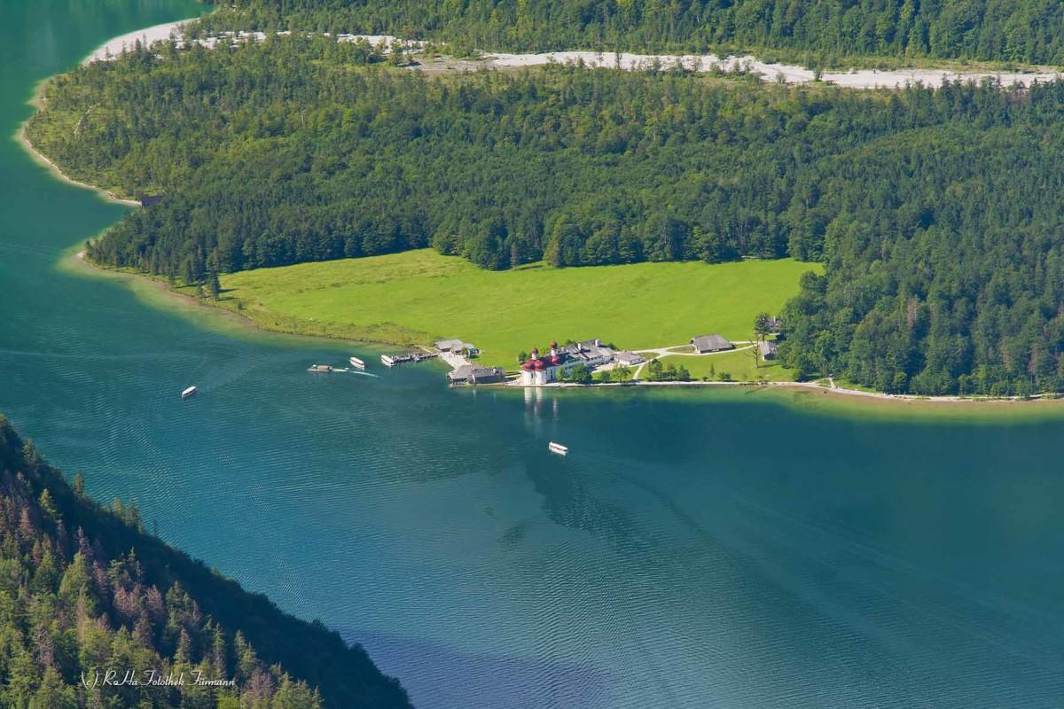 Bartholomä am Königsee im Nationalpark Berchtesgadener Land, Oberbayern, Deutschland
