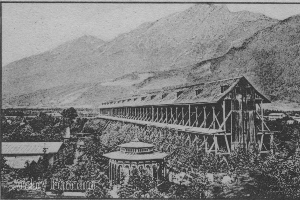 Bad Reichenhall Gradierhaus und Stadt Ansichtskarte gelaufen 9/1907