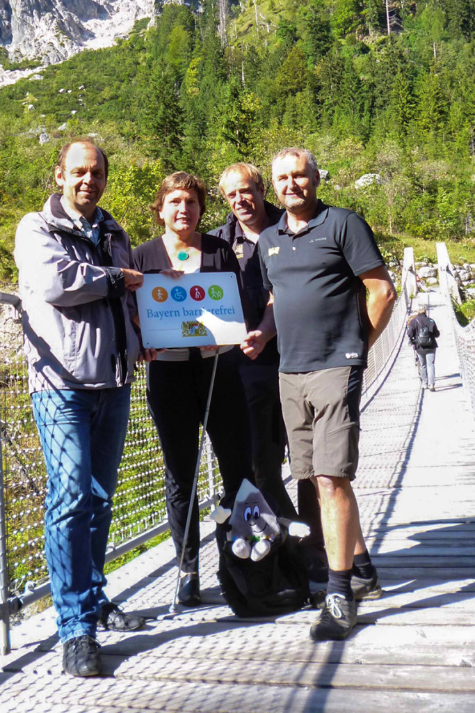 Ramsaus Bürgermeister Herbert Gschoßmann, Irmgard Badura, Ulrich Brendel, Christian Graßl