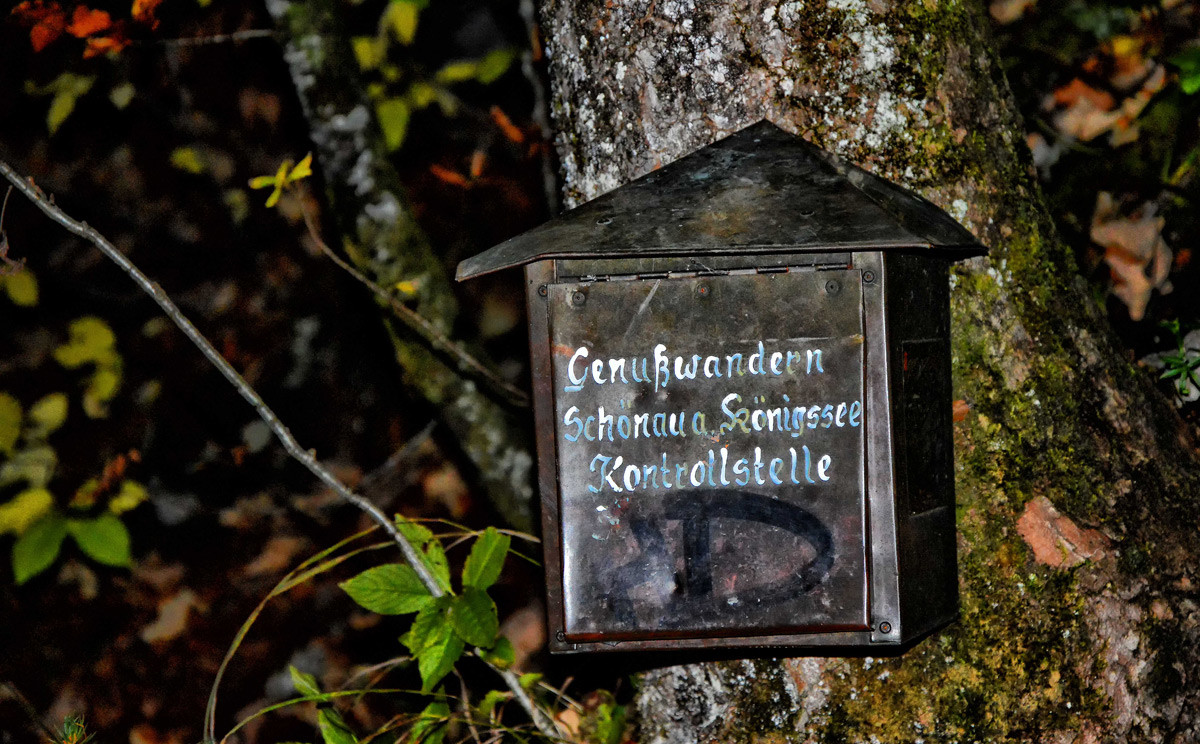 Genusswandern Schönau am Königssee Kontrollstelle an der Rabenwand