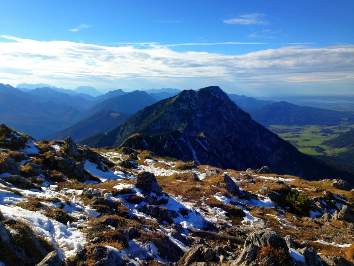Blick vom Gipfel auf den Zwiesel