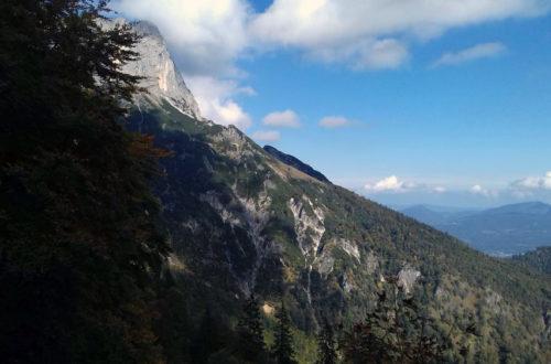 Blick zum Scheibenkaser unterhlab der Untersberg Südwand