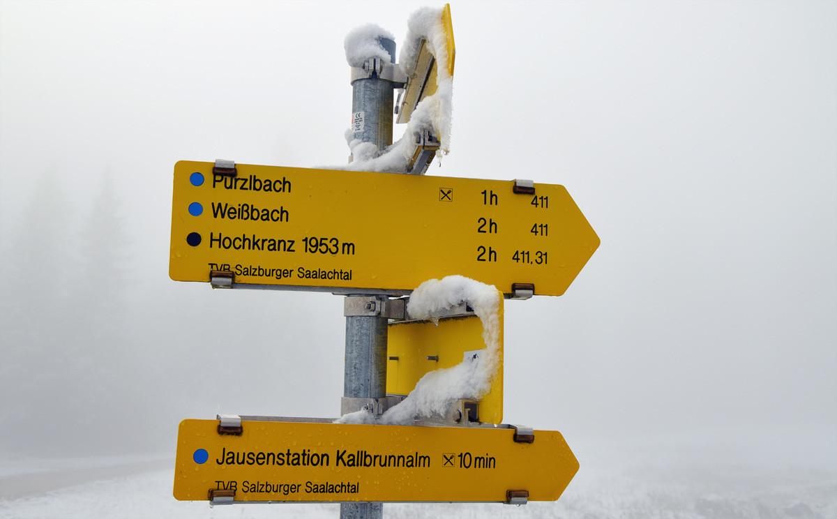 Schnee auf der Kalbrunnalm