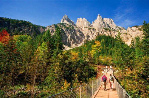 Barrierefrei: Die Hängebrücke im Klausbachtal