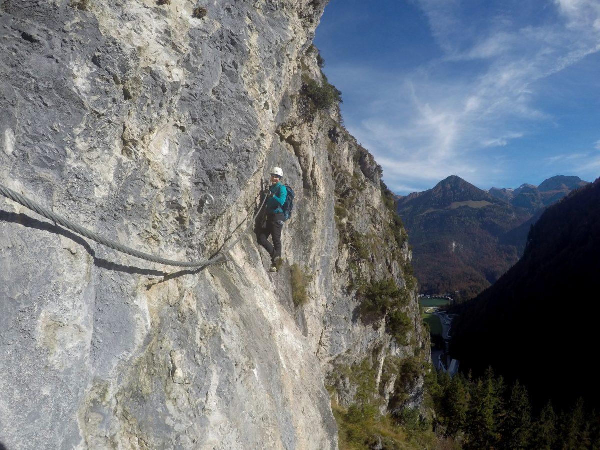 Der Klettersteig am Grünstein bietet ein einzigartiges Panorama