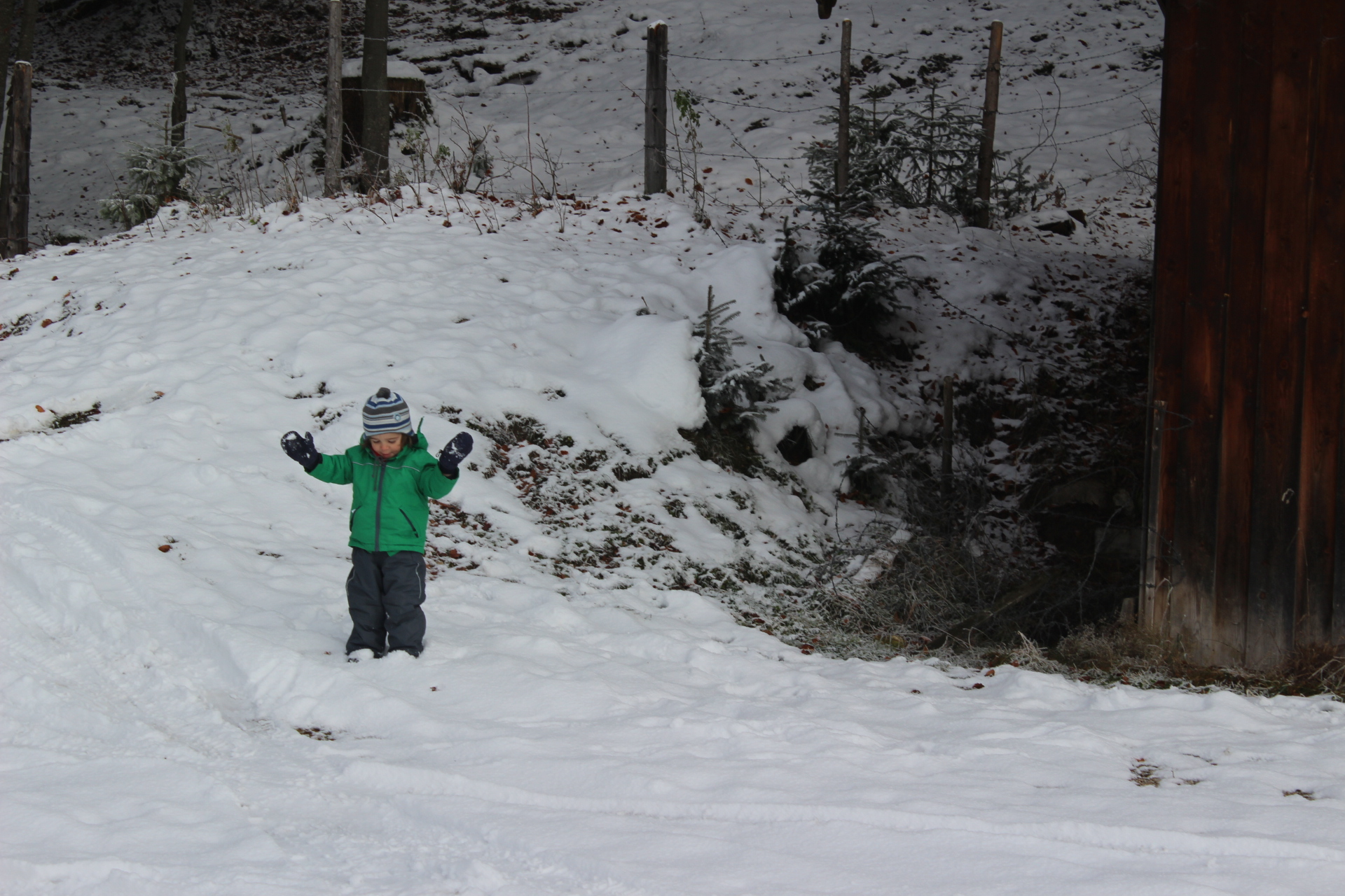 Freude über so viel Schnee