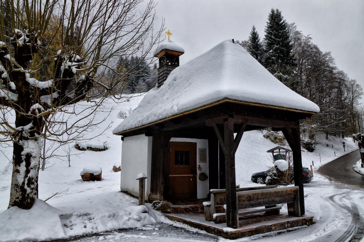 Die Kapelle am Alpengasthof Vorderbrand