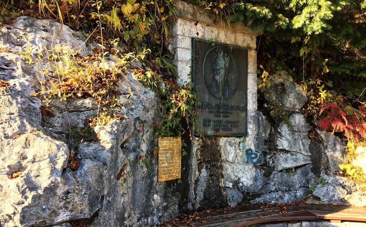 Reichenbach gedenktafel am Soleleitungsweg