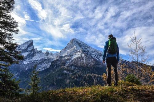 Spektakuläre Aussicht auf den Watzmann