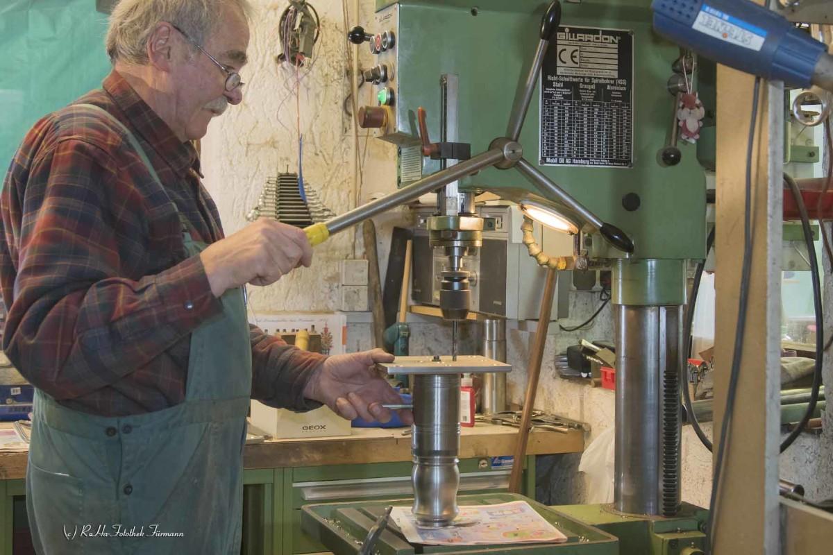 in der Werkstatt von Böllermacher Stangassinger in der Oberau im Berchtesgadener Land